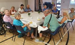 Friends reunited! Pensioners meet again as Covid restrictions lift